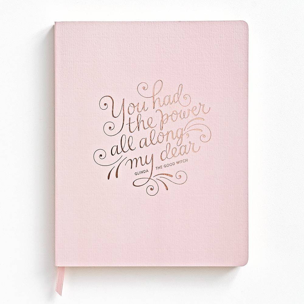 This beautiful, lined journal with an empowering message from Paper Source.