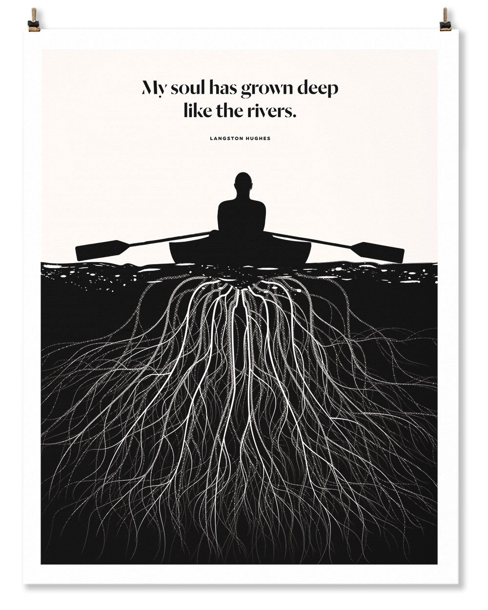 This lovely Langston Hughes art print from Obvious State