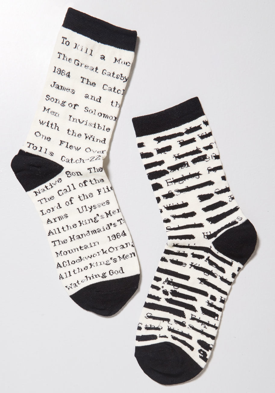 These adorable banned book socks from ModCloth for the cozy rebel in your life