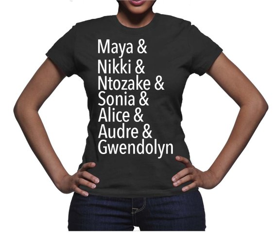 This t-shirt featuring famous African-American poets and writers by The Urban Lioness