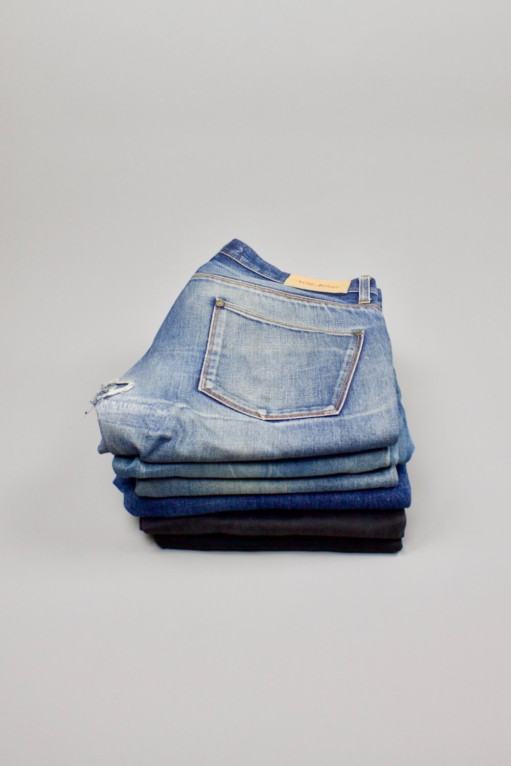 Denim variety   Strong and durable fabric. What if this material was used for … a stool?