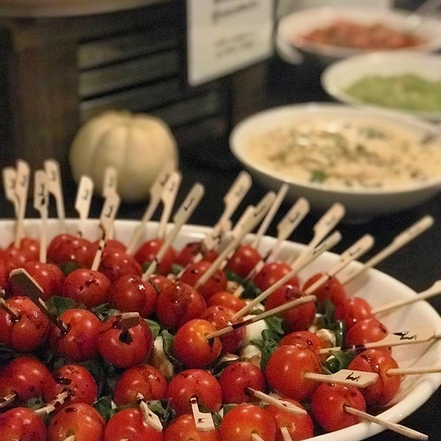 Caprese skewers on the menu tonight #carnegielibraryevents #marketfreshgourmet