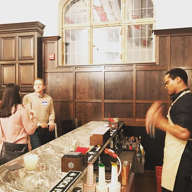 Rockstar Bartender Curtis is behind the bar tonight shaking margaritas for South Bend Clinic physician's social tonight! #carnegielibraryevents #margaritas🍹