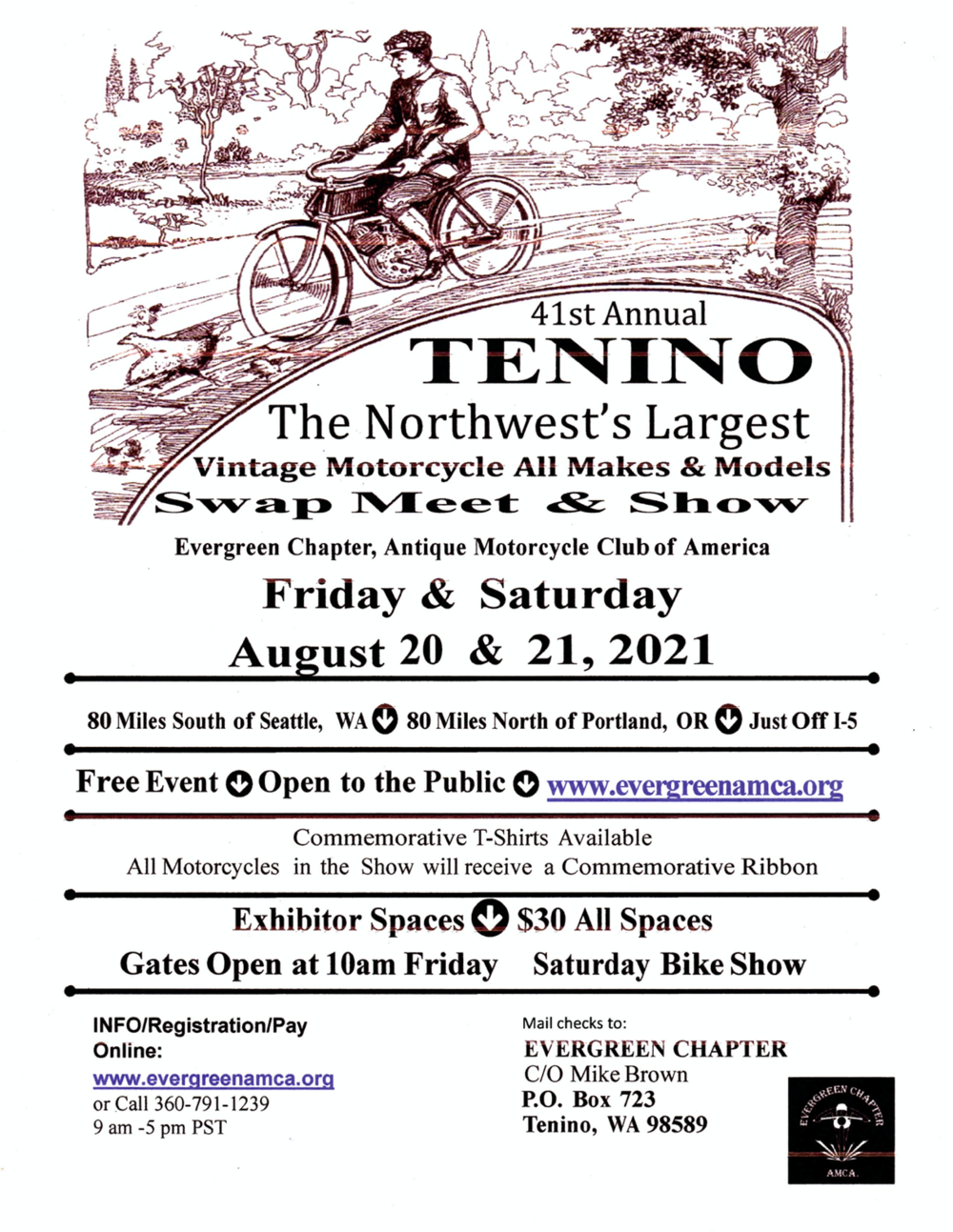 Public Events Washington Vintage Motorcyclists