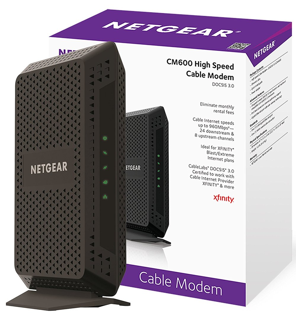 NETGEAR CM600 (24x8) DOCSIS 3.0 Cable Modem - $79.99 after coupon - $20 off or 20%