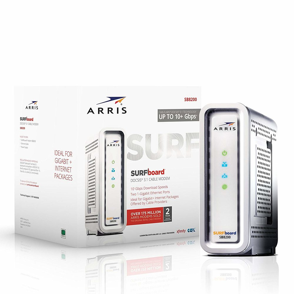 Arris SB8200 SURFboard Cable Modem - $167.96 - $32.03 off or 16%