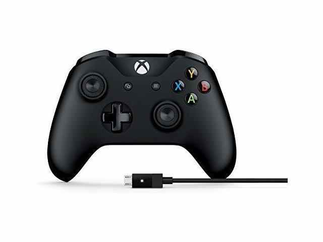 Microsoft Xbox Controller + Cable for Windows - $44.50 - $16.45 off or 27%