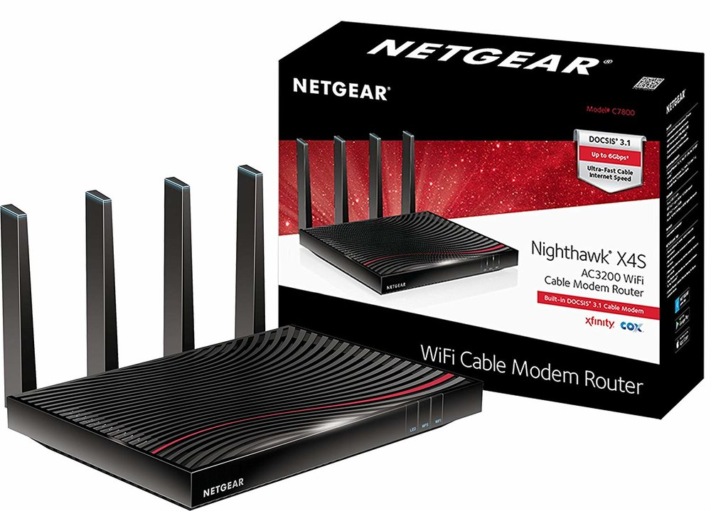 NETGEAR Nighthawk X4S AC3200 Wi-Fi DOCSIS 3.1 Cable Modem Router - $299.99 - $100 off or 25%