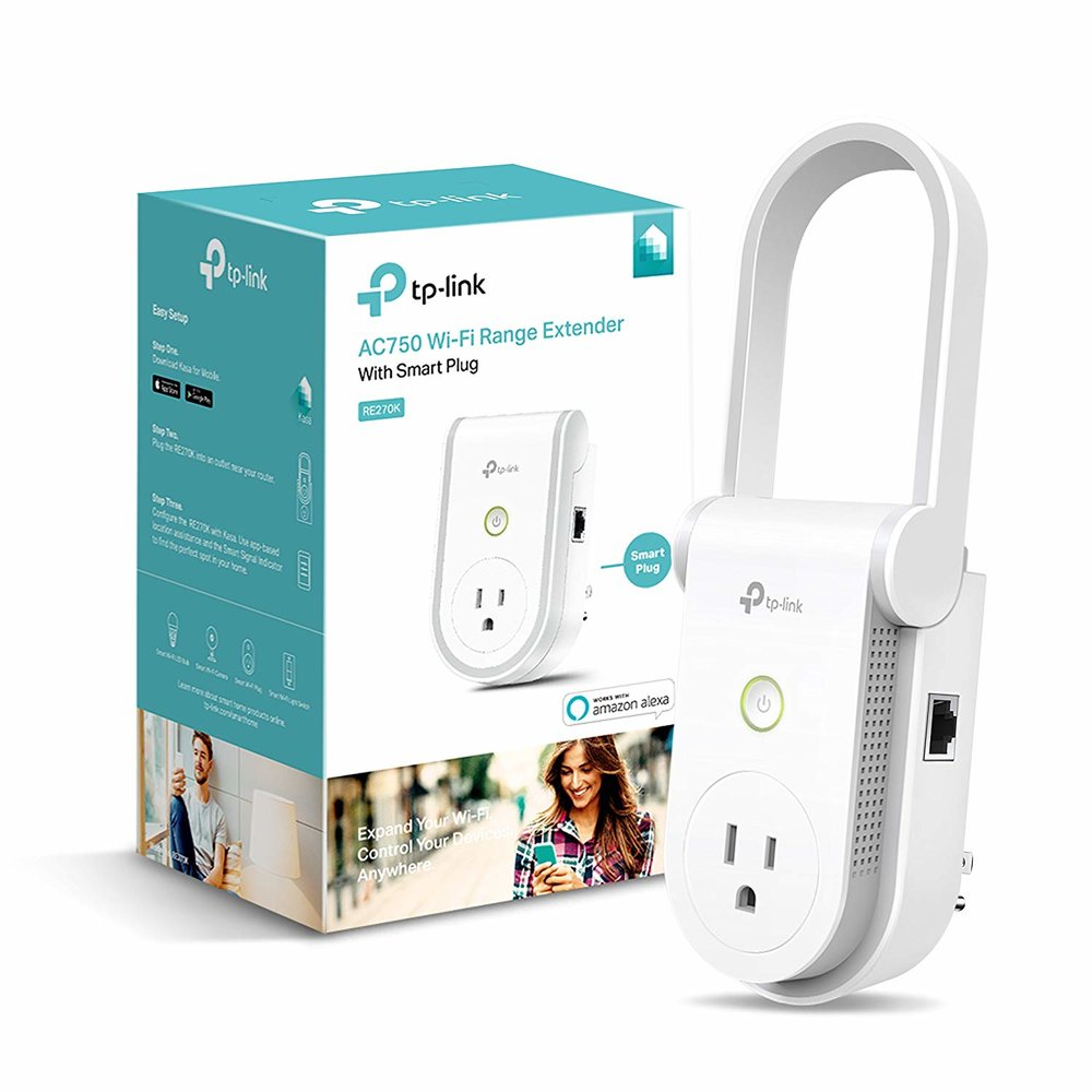 TP-Link RE270K AC750 Wi-Fi Range Extender with Smart Plug - $17 after coupon - $32.99 off or 66%