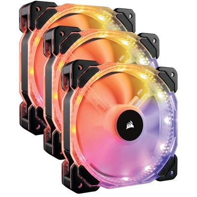 Corsair HD120 RGB 120mm PWM - 3 Fans with Controller - $59 - $30.99 off or 34%