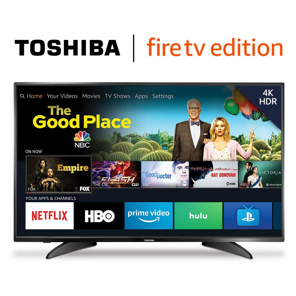 """Toshiba 50"""" 4K Ultra HD Smart LED TV w/ HDR - Fire TV Edition - $299.99 - $80 off or 21%"""