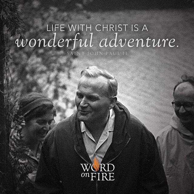 "Happy Feast of St. John Paul II! ""What really matters in life is that we are loved by Christ and that we love Him in return. In comparison to the love of Jesus, everything else is secondary. And, without the love of Jesus, everything is useless."" -JP2  #FeastDay #JohnPaulII #JP2"