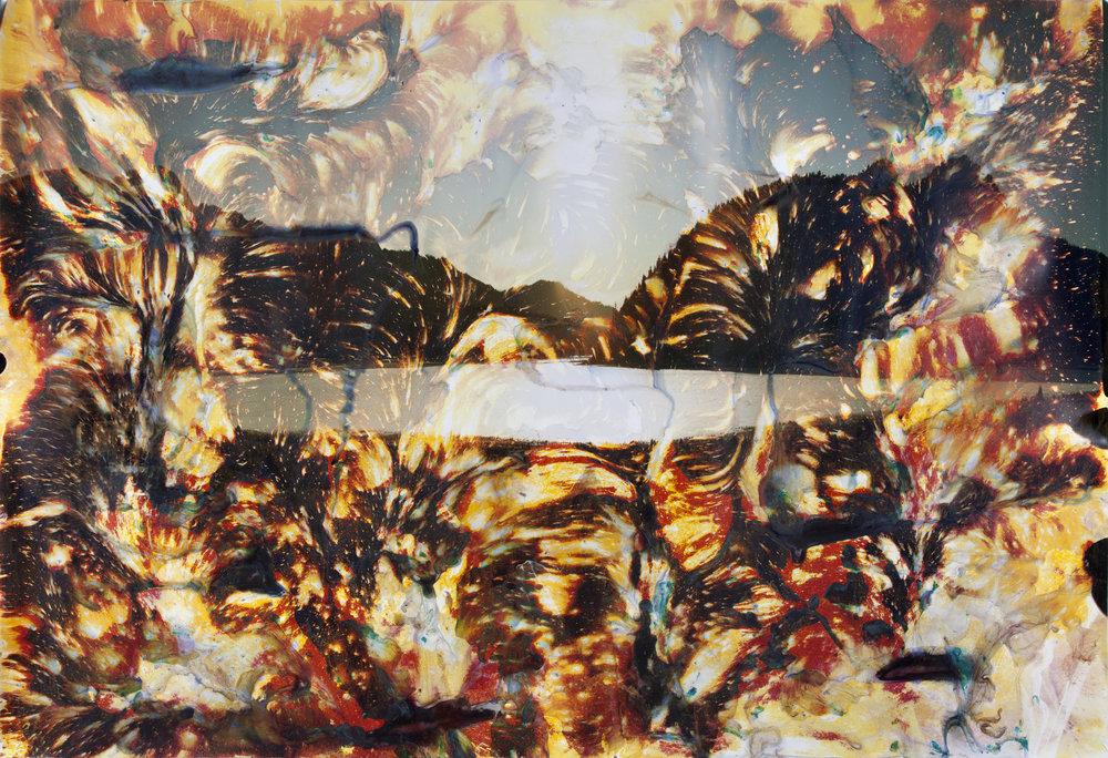 Sylvan Lake, CA 5  2012  chromogenic print soaked in Sylvan Lake water  72 x 105 inches