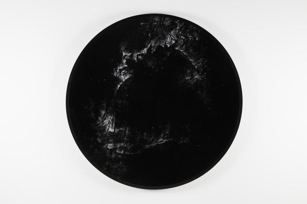 LDN 935  2016  cocaine dust on photographer's velvet  60 1/8 inches diameter