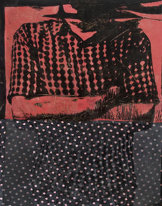 Burnout JB01J  2015  silk velvet with acid treatment  54 ¼ x 42 ½ inches