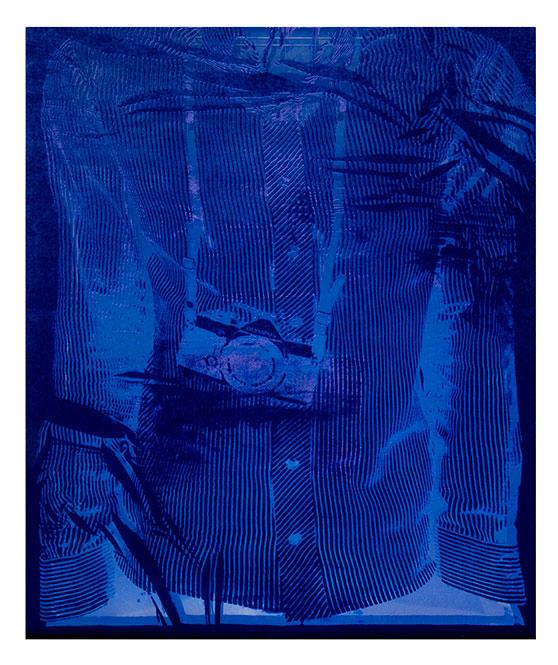 Burnout PSA01i  2017  acid treated silk velvet with mirror  53 5/16 x 41 3/4 x 1 7/8 inches