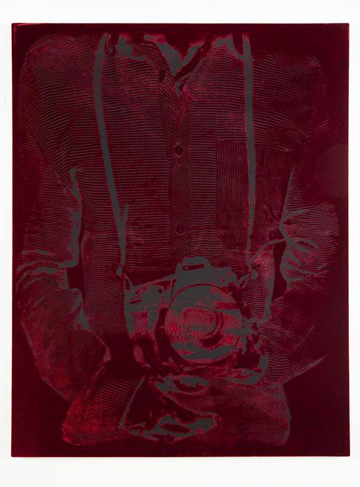 Burnout PGT01B  2017  silk velvet with acid treatment  53 x 41 inches