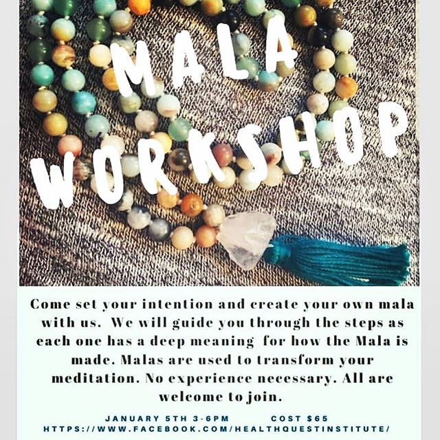 This Saturday, we are making malas. It's fun and a terrific way to string your hopes and intentions together. Please join us!