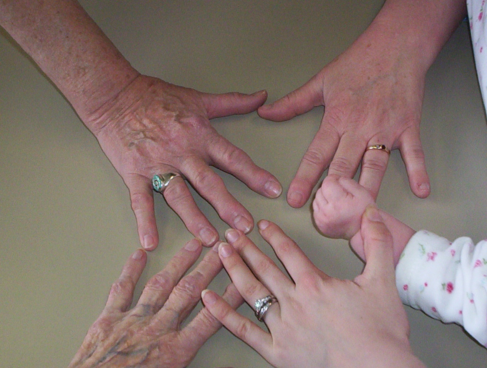 5 Generations of Hands