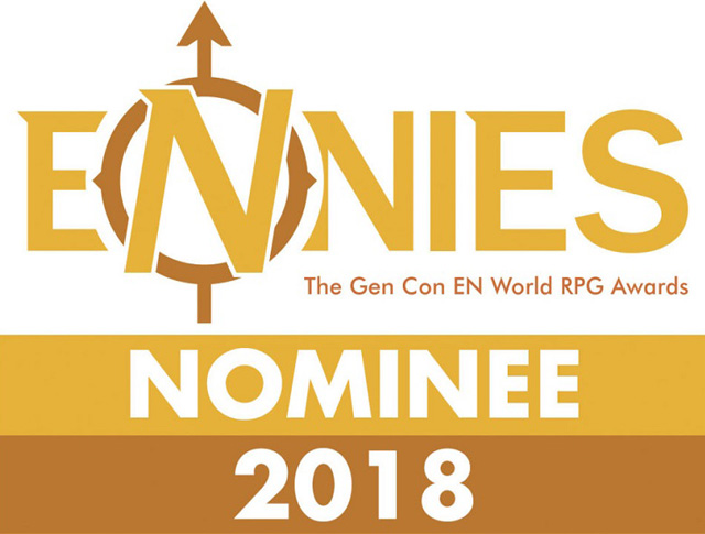I'm honored to have been nominated for the Best Interior Art ENNIE at GENCON 2018. -
