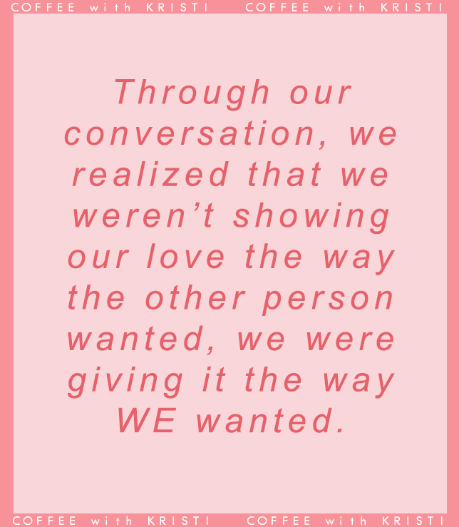 Relationship advice | on the podcast, I talk about how my boyfriend and I, with the help of an online quiz, learned how best to show love to each other. Learn more how we did that and how this helped us improve our relationship. Listen to the episode at: https://www.coffeewithkristi.com/blog/lovewell