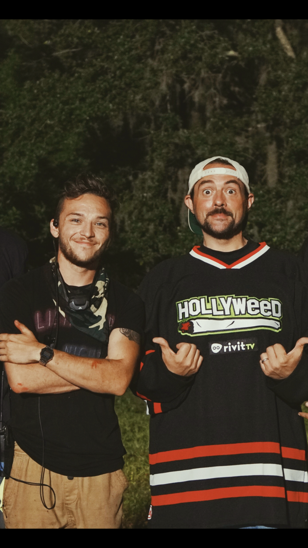 """With Kevin Smith for """"Killroy Was Here"""""""