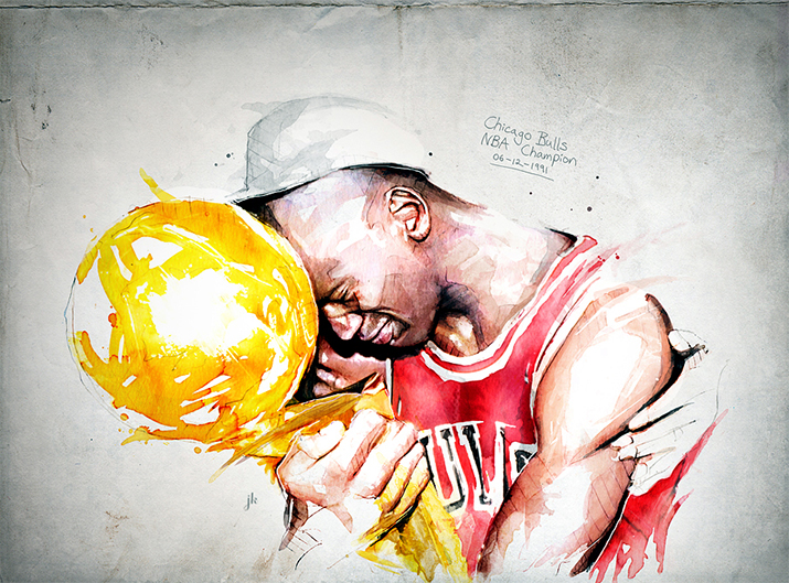 Chicago Bulls50th AnniversaryPaintings - A series of paintings commissioned the NBA's Chicago Bulls in 2016 to celebrate their 50th Anniversary.