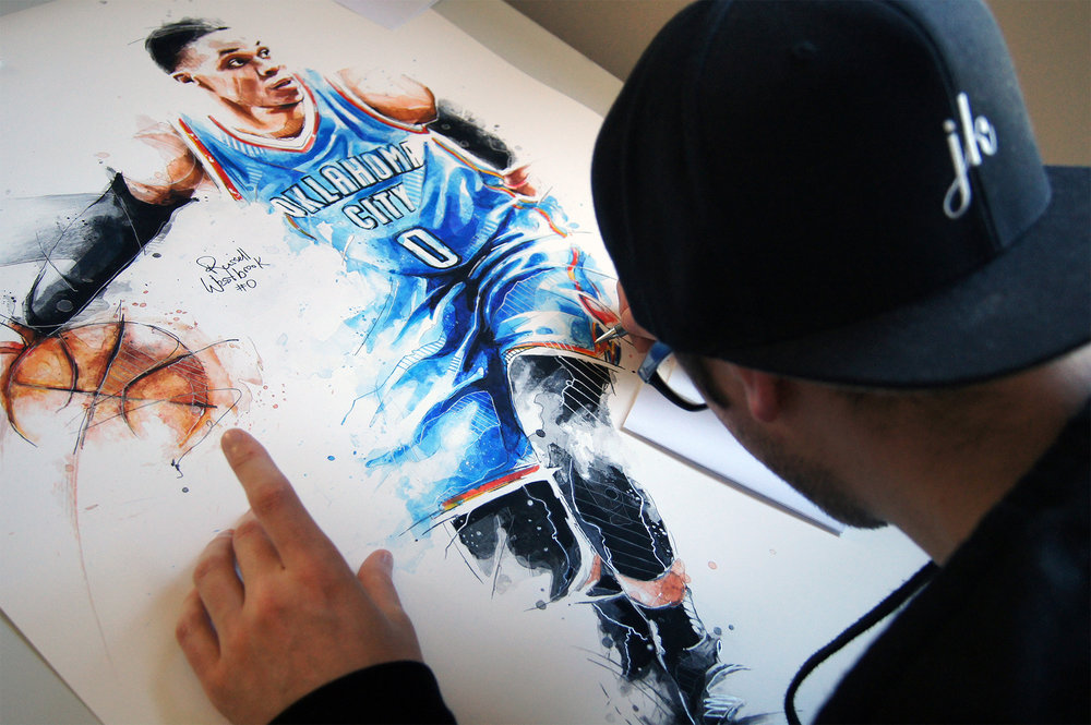 NBA BasketballCommissionedPaintings  - Paintings commissioned by the National Basketball Association. (NBA)