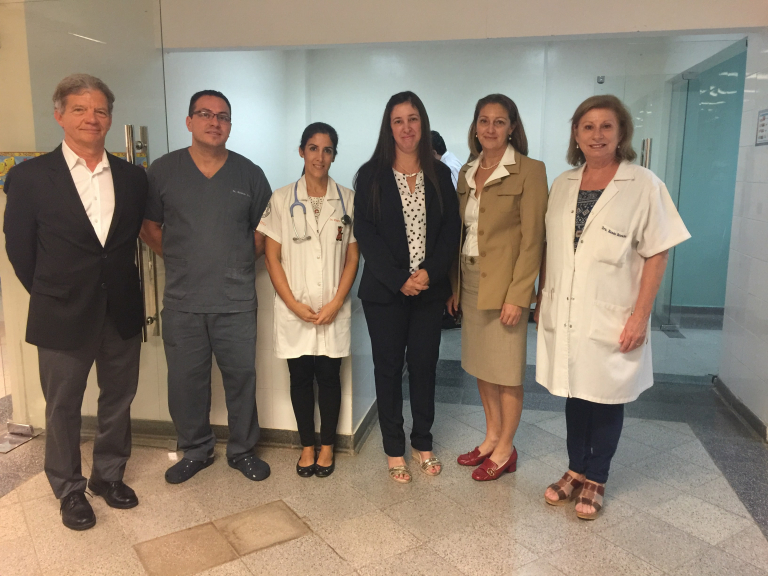 Paraguay's first pediatric cardiac team We met with Paraguay's only full-time pediatric cardiac surgeon, Dr. Patricia Egusquiza, and her team (shown above). We were able to see firsthand one of their many tangible accomplishments while visiting the University Hospital – a four-bed stand alone pediatric cardiac ICU.