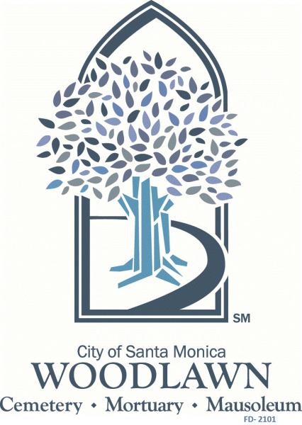 Adapted Concept & Official  Logo - City of Santa Monica's Woodlawn Cemetery