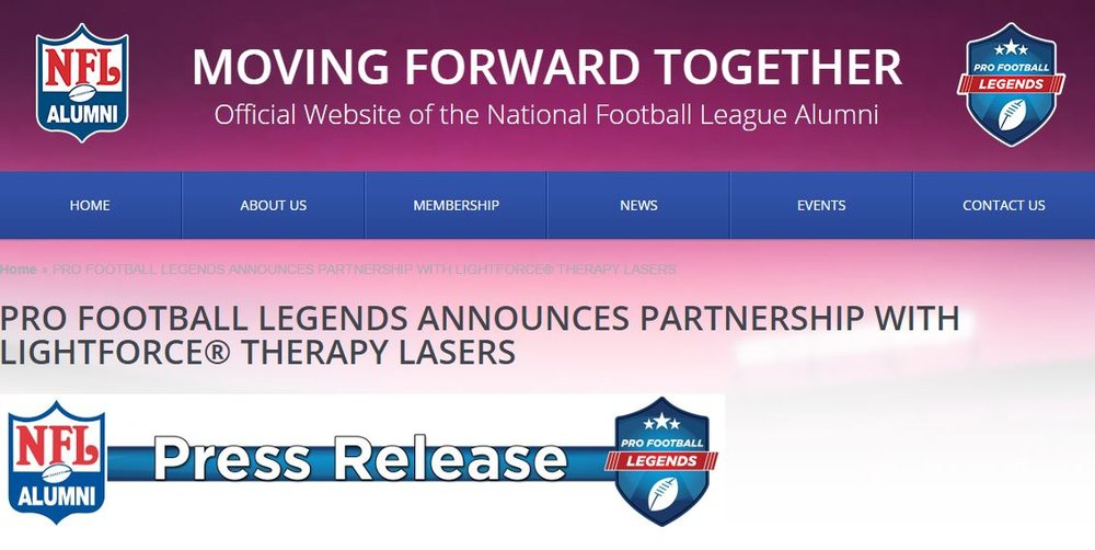 NFLAA and LightForce Laser Partnership.JPG