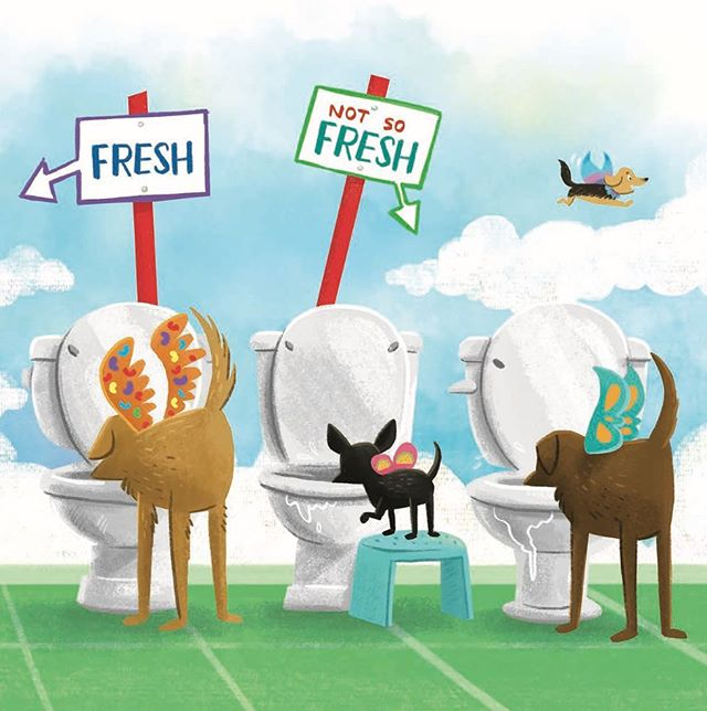 It's always happy hour in Fairy Dog Heaven. 🚽🐕 www.fairydogheaven.com . . . #FairyDogHeaven #doglovers #dogmom #kidlit #kidlitart #kidsbooks
