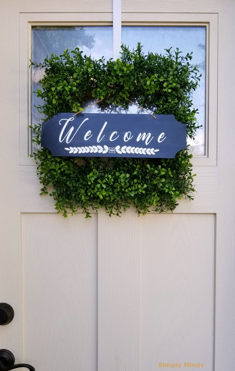 I created this welcome sign using my  cricut  of course!