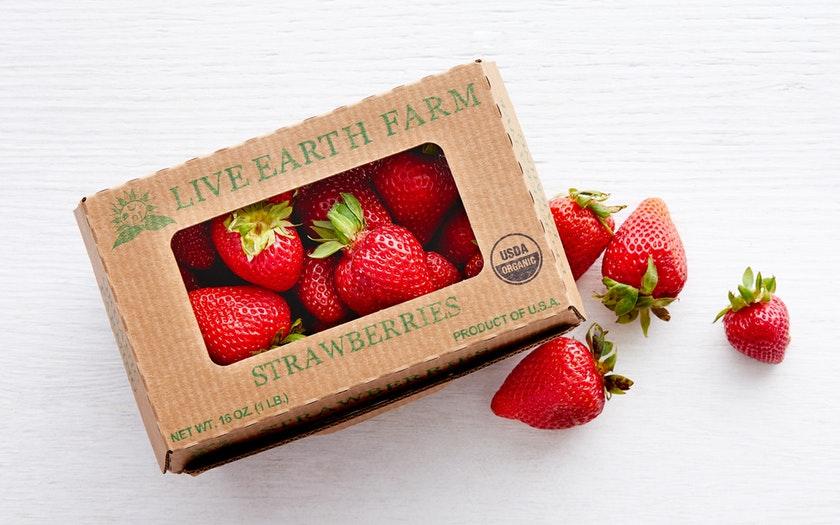 Live Earth Farm  Organic Albion Strawberries  $4.99