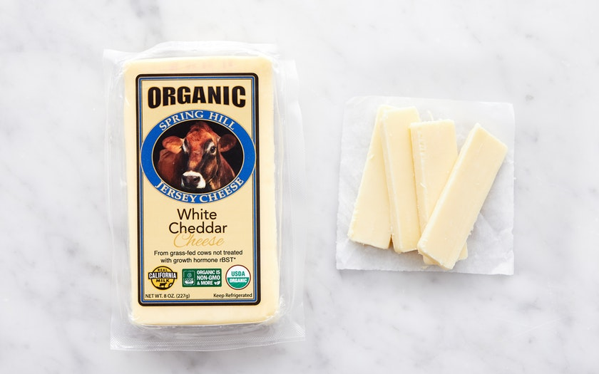 Spring Hill Jersey Cheese    Organic White Cheddar    $6.99