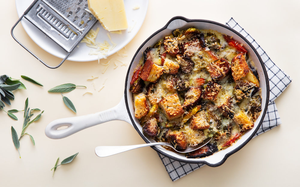 stuffing stratas are the perfect post-thanksgiving brunch dish
