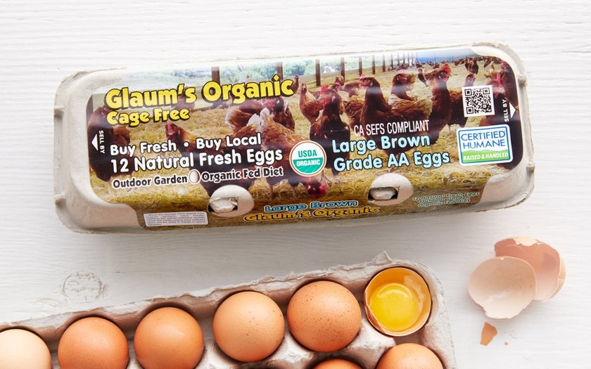 Glaum Egg Ranch   Organic Cage Free Large Brown Eggs   $5.49