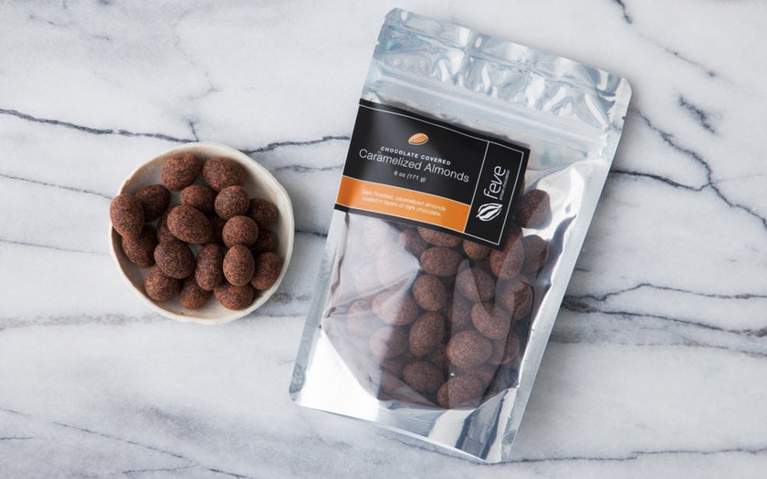 Feve Artisan Chocolatier   Chocolate Covered Caramelized Almonds     $11.99