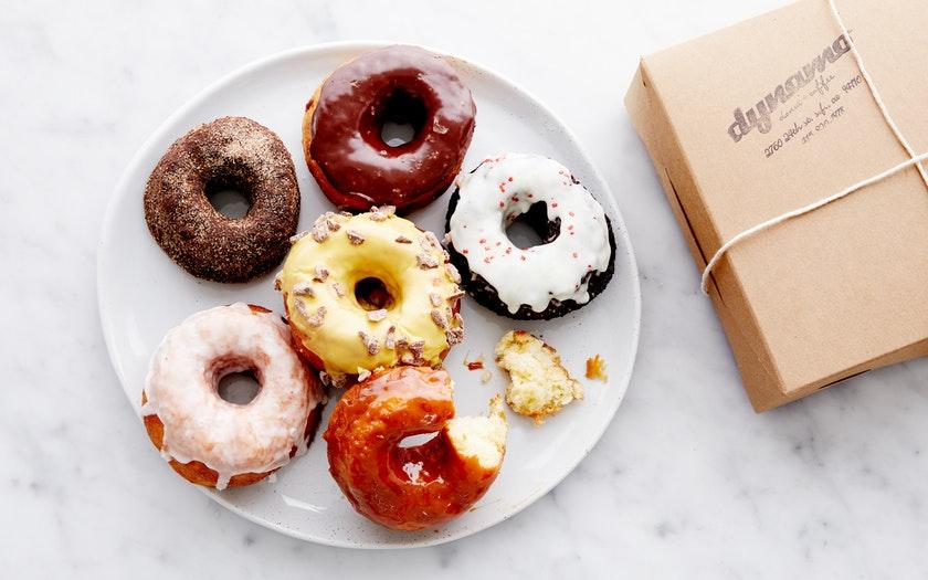 Dynamo Donuts   Half-Dozen Assorted    Donuts  $18.99