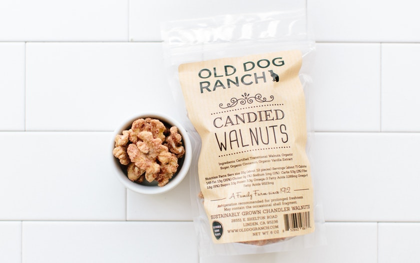 Old Dog Ranch   Organic Candied Walnuts     $8.99
