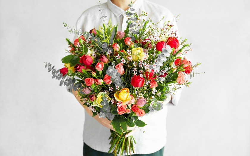 Good Eggs Flower Shop   Valentine's Day Armful of Love Bouquet     $79.99