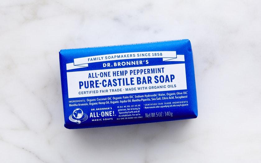 Dr. Bronner's   Organic Peppermint Bar Soap     $4.69