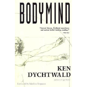 Bodymind by Ken Dychtwald   An established classic in its field, Ken Dychtwald's  Bodymind has been updated in this latest edition to reflect the author's ongoing exploration of the vital body and mind connection. Integrating ancient Eastern knowledge with the pioneering contemporary work of Wilheim Reich, Moshe Feldenkrais, Fritz Perls, and with his own intuitive observations, Dychtwald presents a comprehensive study on the body and mind relationship in an analytic yet highly readable style.  Through Dychtwald's engaging, experiential narrative, the reader is drawn into an illuminating journey toward higher self-awareness with practical applications in everyday life. Articulating the complex relationship between body type, personality, and experience, Dychtwald suggests methods for obtaining deeper self-knowledge of physical, emotional, and sexual makeup, and relates techniques for releasing repressed feelings, as well as self-healing and increased energy.