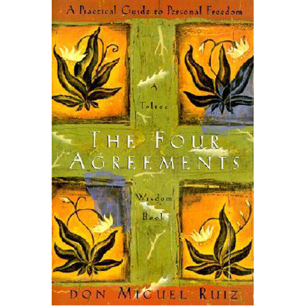 The Four Agreements by Don Miguel Ruiz   In The Four Agreements, bestselling author don Miguel Ruiz reveals the source of self-limiting beliefs that rob us of joy and create needless suffering. Based on ancient Toltec wisdom, The Four Agreements offer a powerful code of conduct that can rapidly transform our lives to a new experience of freedom, true happiness, and love.