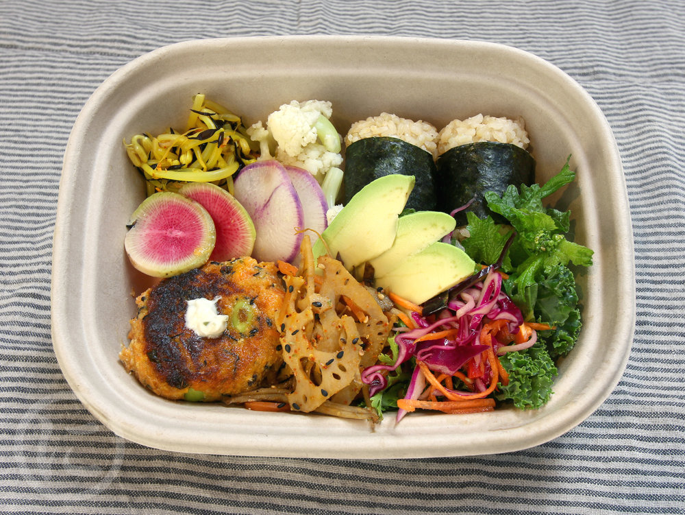 Vegan Bento  Changes Daily. Seasonal ingredients. Gluten-free.
