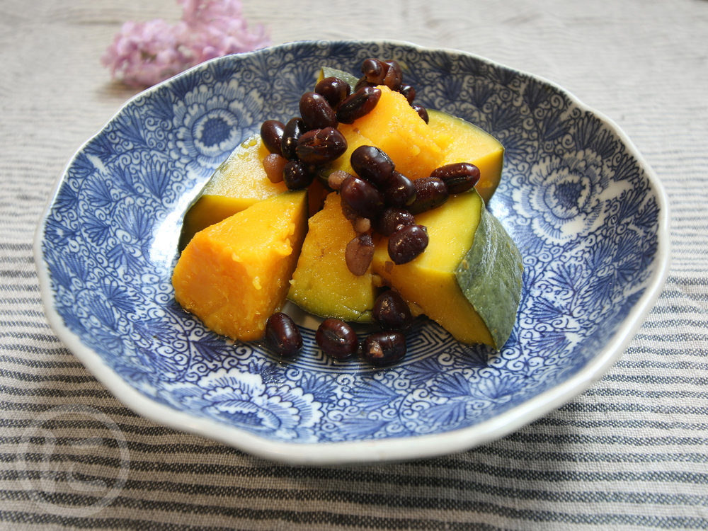 Steamed Kabocha  With red beans