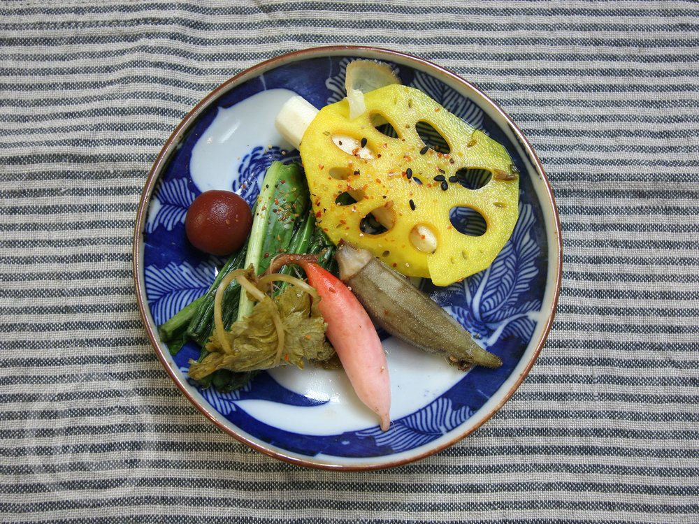 Tsukemono (  Pickled Vegetables)  Promotes healthy digestion