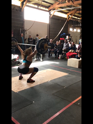 Mandi, on the comeback and in a new weight class, went 2 for 3 in the snatches