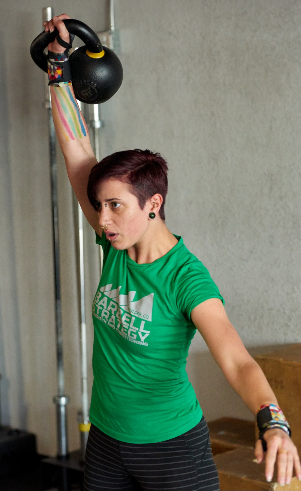 Sarah testing out an experimental kettlebell protocol