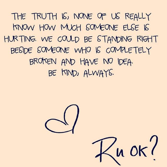 R U ok? Bring a friend in for a cuppa and a chat, and mention this post, we will give you a large pot of tea for the price of a small!  #ruokday #bekind